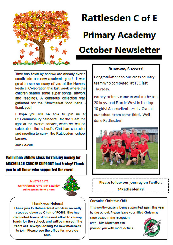 All School News - Rattlesden Church Of England Primary Academy
